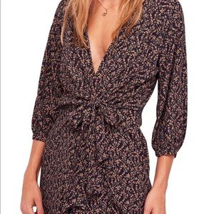 NWT Free People Clara Front- Tie Tunic